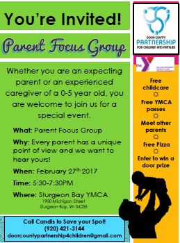 parent focus group door county parents