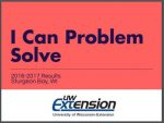 I Can Problem Solve 2016-2017 Results Door County, wisconsin