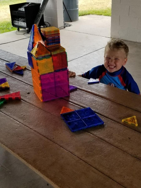 Proud of his tower