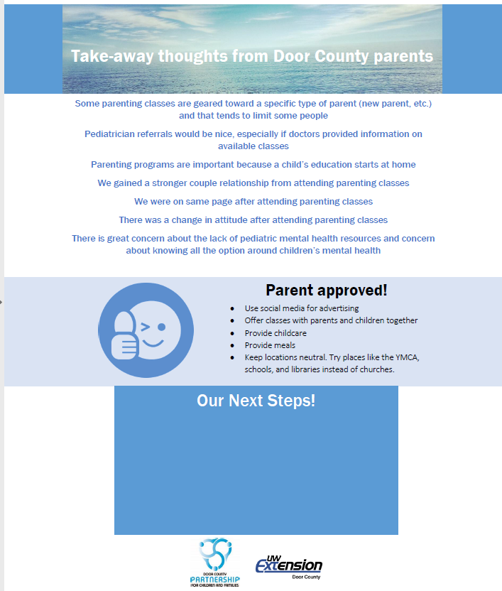 Door County Partnership for Children & Families Parent Focus Group