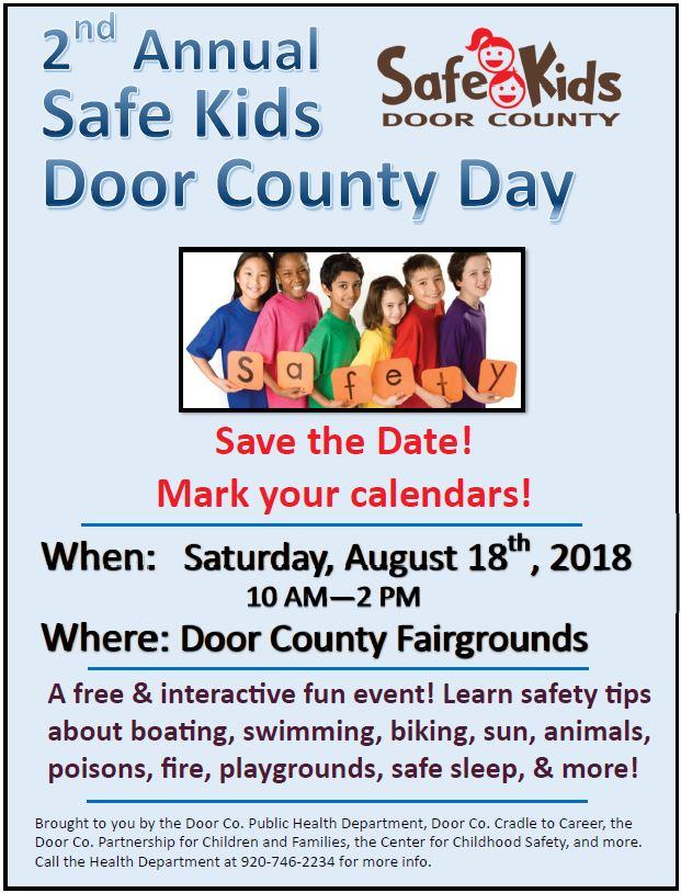 2018 safe kids door county